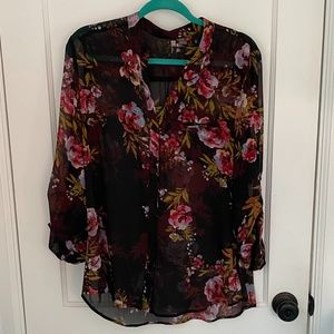 Kut from the Kloth-Sheer Blouse-Large